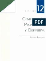 Cementación Provisional y Definitiva