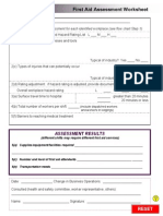 First Aid Assessment Worksheet