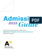 Bscba Admission Guide 2015 Aalto Mikkeli Campus