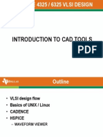 Intro to Cad Tools 2012