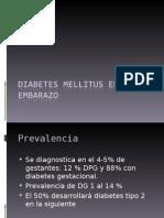 Diabetes Mellitus en El Embarazo