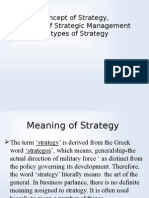 Concept of Strategy,Concept of Strategic Management and Type