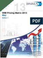 Pricing Matrix May 2013- Edition2