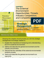 The External Environment Opportunities, Threats,Industry Com