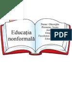 Referat Pedagogie - Educatia Nonformala