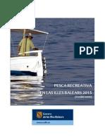 Cuaderno pesca marítima Islas Baleares 2015
