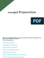 Budget Preparation - Economics