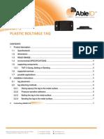 TMT-3 PlasticBoltableTag Able ID