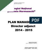 Plan Managerial Director Adjunct