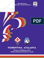 Match Program Fiorentina-Atalanta