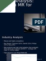 Case Analysis for Zenith MR for HDTV p
