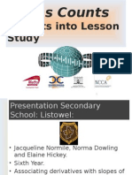 Introduction to Differential Calculus Presentation Secondary School Listowel (1)