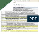 Cronograma de Actividades 2014-III