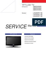 9619 Samsung LN26R71B LN32R71B LN40R71B Chassis GBD26!32!40ML Televisor LCD Manual de Servicio