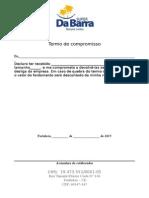 Termo de Compromisso (Fardamento) - Super Da Barra 2015