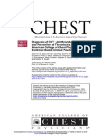 Diagnosis of DVT Antithrombotic Therapy and Prevention of Thrombosis, 9th Ed American College