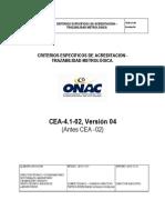 Criterios Específicos de Acreditación Traducibilidad Meteorológica CEA-4.1-02 V4