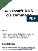 Microsoft DOS Commands