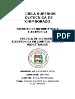 Codigo Etica Ing. Electronico