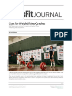 Cues for Weightlifting Coaches