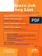 childcare job vacancy list 05 february fd6c405a08