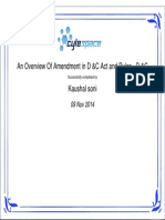 Overview of D&C act