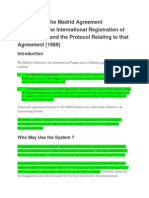 Summary of the Madrid Agreement Concerning the International Registration of Marks