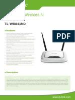 TL-WR841ND_V8.0_Datasheet