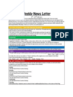 weekly news letter 8-12 feb