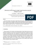 Liquid–Liquid Extraction Using the UNIQUAC Model