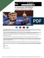 06-01-2015 Acuña_ Los Que No Participen Del Diálogo Demostrarán Que No Les Interesa El País