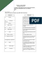 Form 2 science worksheet