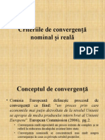 Curs 13-14. Criteriile de Convergenta Nominala Si Reala