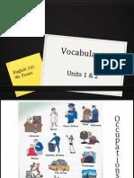 Vocabulary Units 1 & 2
