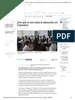 Análisis Del Porqué Es Tan Mala La Educación en Colombia