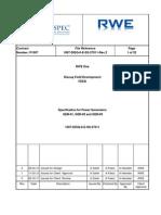 1007 DISQ 0 E SS 27011 Specification for Power Generators (GEN 01, GEN 02 and GEN 03)