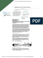 Cisco 1941 Series Folha Integrated Services Routers de Dados - Cisco