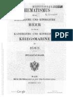 Schematismus 1913