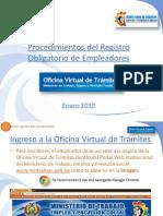 PROCEDIMIENTO DEL REGISTRO OBLIGATORIO DE EMPLEADORES 2015