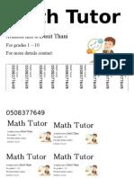 Math Flyer 2
