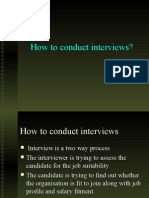 How to Conduct Interviews?