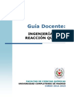 Guia Docente Ingenieria de La Reaccion Quimica