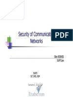 Security of Communication Networks, InDP3 (IST, IRES, RSM)