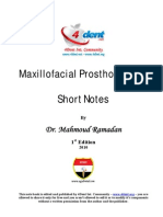 Maxillofacial Notes Dr.mahmoud Ramadan