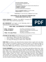 8th February 2015 Parish Bulletin