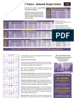 Acorn CIMA Classroom Brochure Jan-May 2015 Exams Gatwick
