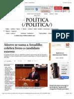04-02-15 Añorve Se Suma a Astudillo; Celebra Freno a Candidato Externo - Grupo Milenio