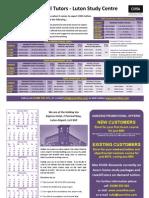Acorn CIMA Classroom Brochure Jan-May 2015 Exams Luton