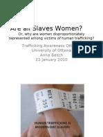 Presentation for Trafficking Awareness Ottawa Panel