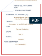 Ordinario Plan de Marketing Lizzet Zárate Méndez 901-c